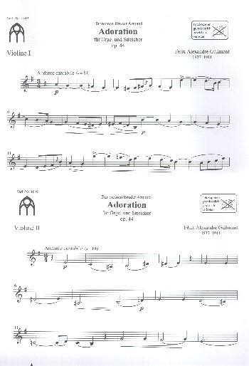 2 Werke: für Orgel und Streicher Orchestermaterial komplett