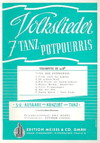 7 Volkslieder-Tanzpotpourris: Trompete 3 in B