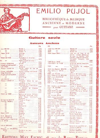 Io non compro: Frottola,  pour chant et guitare Pujol, Emilio, Transcription