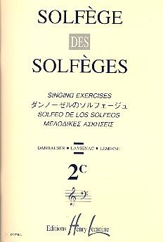 Solfege des solfeges vol.2c: singing exercises (moyen/medium)