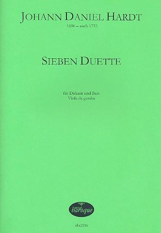 7 Duette: für Diskant, Bass und Viola da Gamba