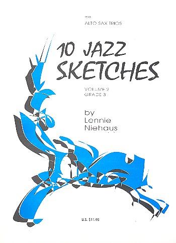 10 Jazz Sketches vol.2: for 3 alto saxophones score