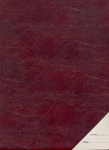 Chormappe Din A4 Skai-Leder rot