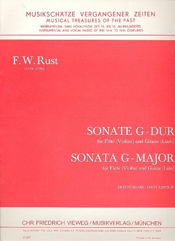 Sonate G-Dur für Flöte (Violine) und Gitarre (Laute) Spielpartitur