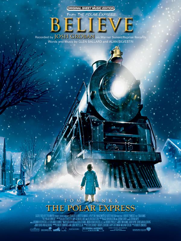 Believe from The polar express: Einzelausgabe voice/piano/guitar