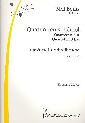 Bonis, Mel (Domange, Mélanie) - Quartett B-Dur : für Streichtrio