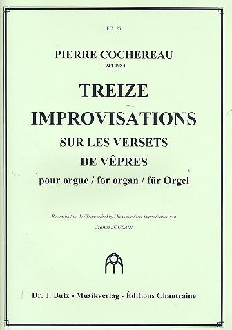13 Improvisation sur les versets de vepres: for organ