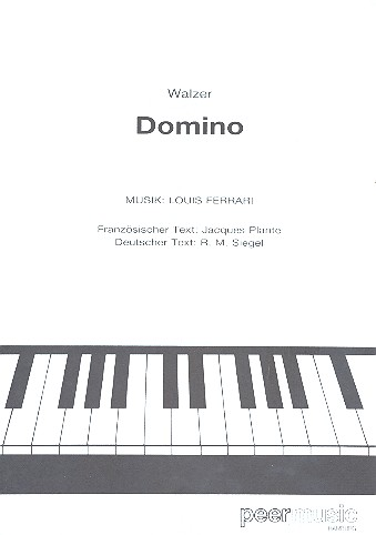 Domino: Einzelausgabe (frz/dt) für Klavier/Gesang/Gitarre
