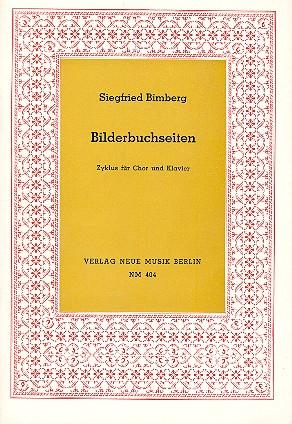 Bilderbuchseiten: Zyklus für Frauenchor und Klavier,  Partitur