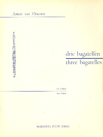 3 Bagatelles: for 4 flutes score