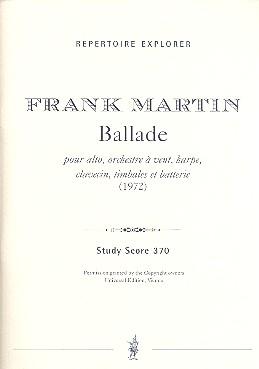 Ballade: für Viola, Blasinstrumente, Cembalo, Harfe und Schlagwerk