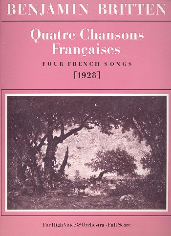 4 chansons francaises: 4 French songs for high