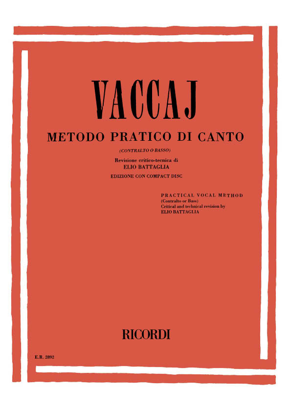 Metodo pratico di canto (+CD): per contralto o basso
