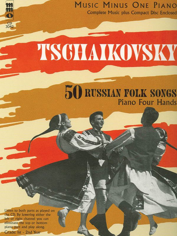 Music minus one piano: 50 russian folk songs for