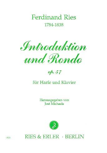 Introduktion und Rondo op.57: für Harfe und Klavier