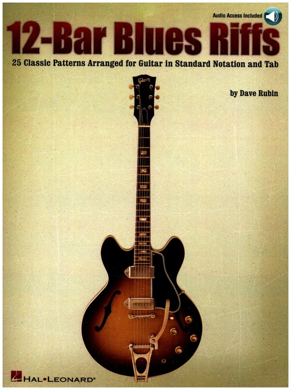12-bar blues riffs (+CD): for guitar 25 classic patterns in standard notation and tablature