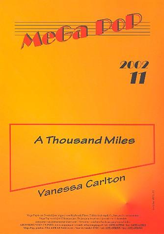 A thousand Miles: Einzelausgabe für Gesang