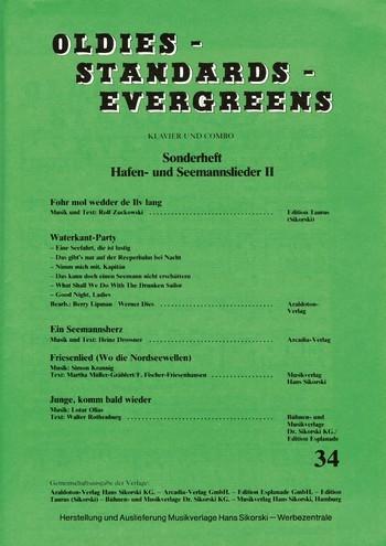 Oldies Standards Evergreens Band 34 - Hafen- und Seemannslieder Band 2: