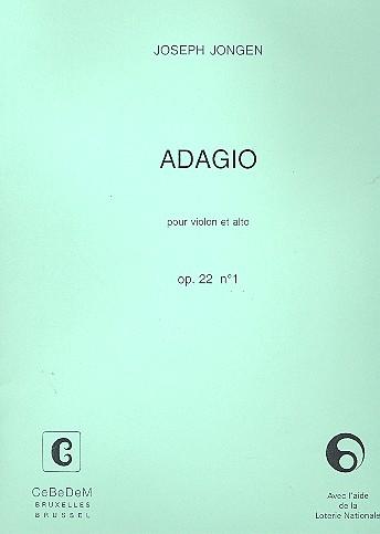 Adagio opus.22,1: pour violon et alto, 2 partitions