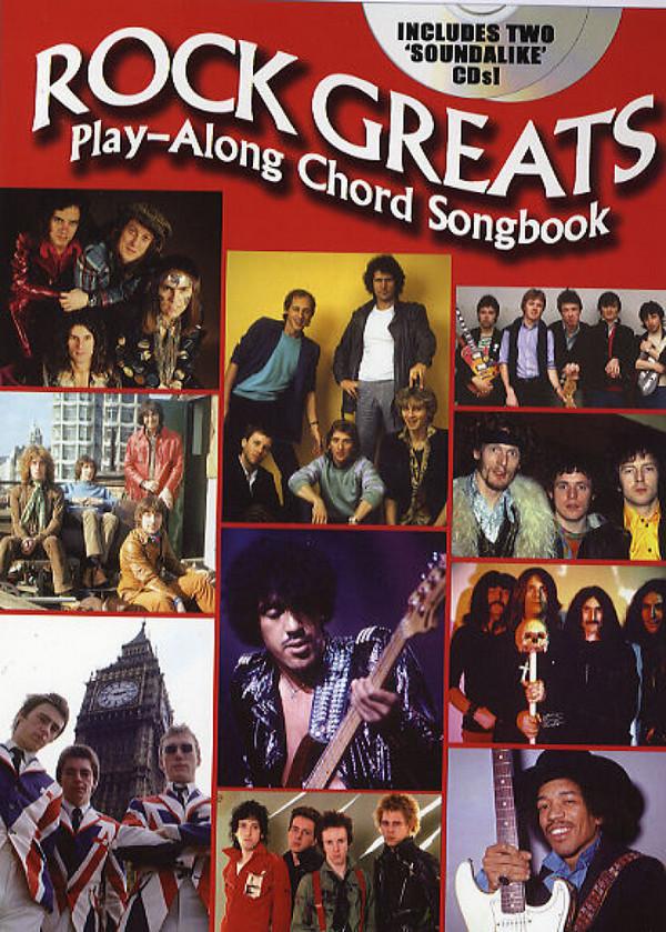 Rock greats (+2 CDs): playalong chord book