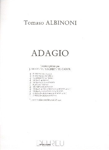 Adagio: pour violon (flute), violoncelle et piano