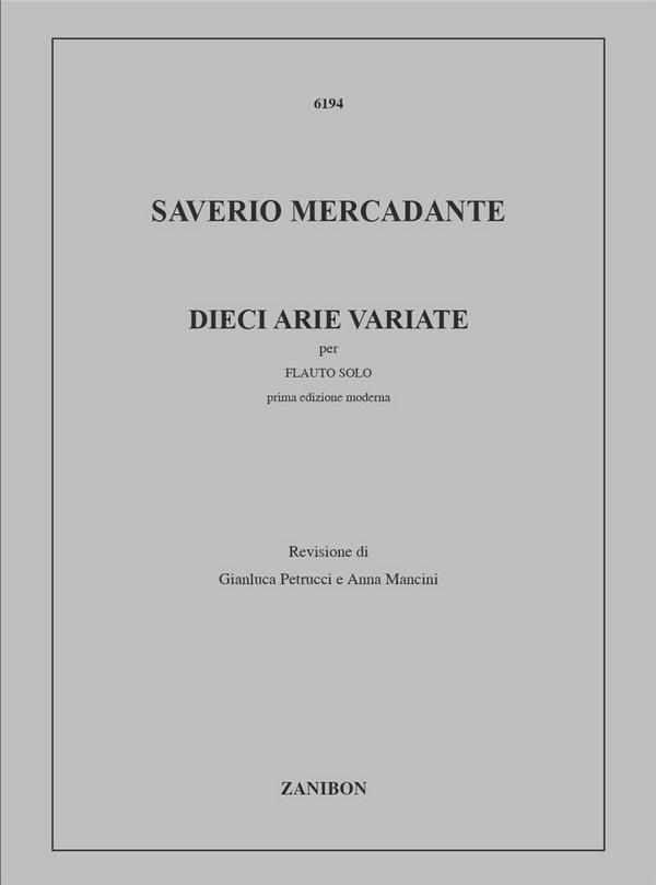 10 arie variate: per flauto solo