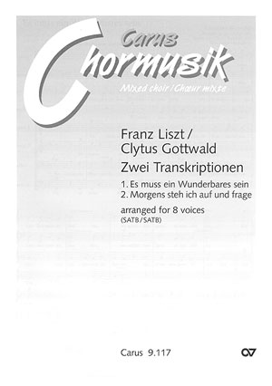 2 Transkriptionen: für gem Chor (8 Stimmen) a cappella, Chorpartitur