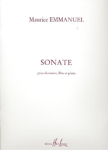 Emmanuel, Maurice - Sonate : pour clarinette,