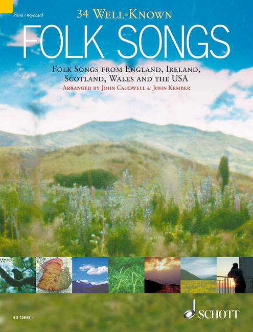 34 well-known folk songs: for piano/keyboard