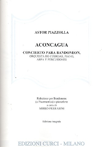 Aconcagua: per bandoneon (fisarmonica) e pianoforte
