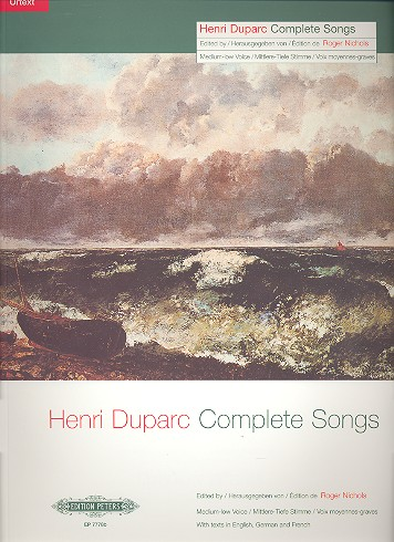 Duparc, Henri - Complete songs : for medium / low