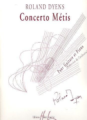 Concerto Métis pour guitare et orchestre: pour guitare