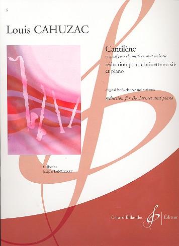 Cahuzac, Louis - Cantilène pour clarinette et