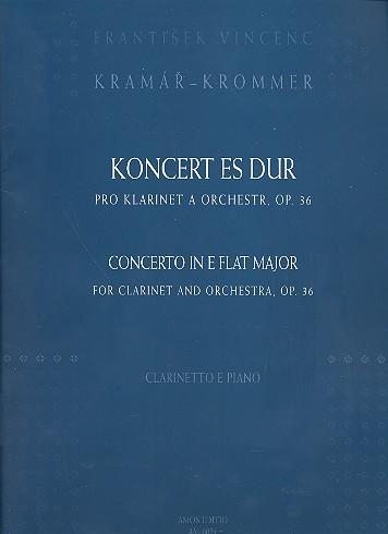 Konzert Es-Dur opus.36: für Klarinette und Klavier