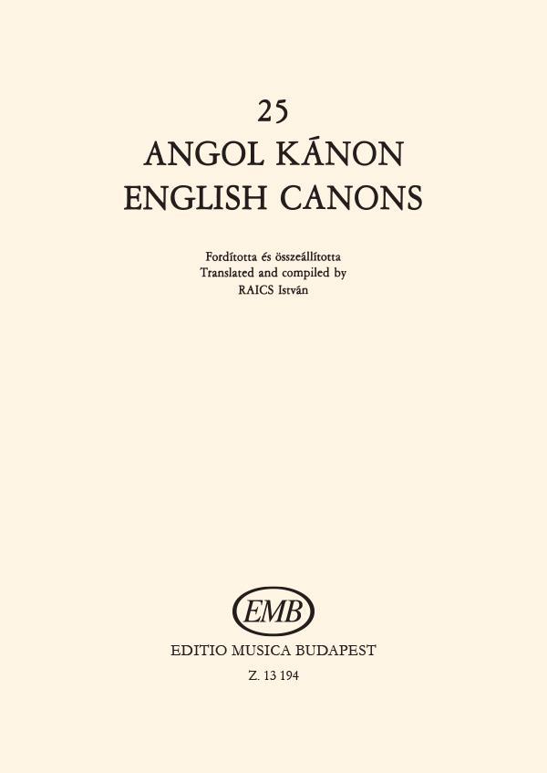 25 english canons