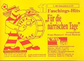 11 Faschingshits für die närrischen Tage: für Blasorchester, Altsaxophon 1 in Es