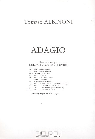 Adagio: pour 2 violoncelles et piano (orgue)