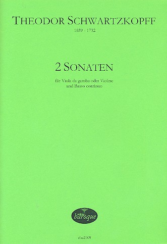 2 Sonaten: für Viola da gamba (Violine) und Bc