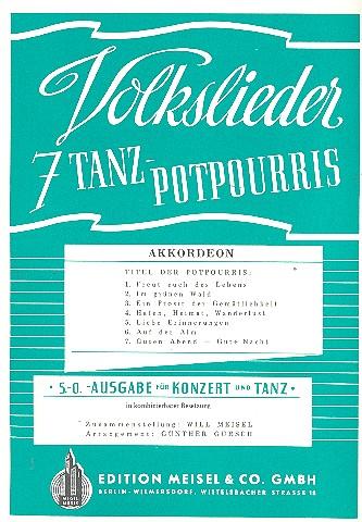 7 Volkslieder Tanzpotpourris: Akkordeon
