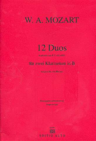 12 Duos nach KV487 (KV496a) . für 2 Klarinetten in B