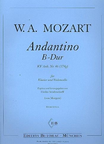 Andantino B-Dur KV Anh. Nr.46: für Violinoncello und Klavier