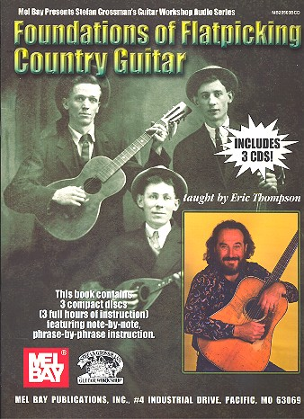Foundations of flatpicking country guitar (+3CD\