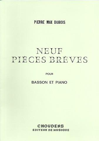9 pieces breves: pour basson et piano