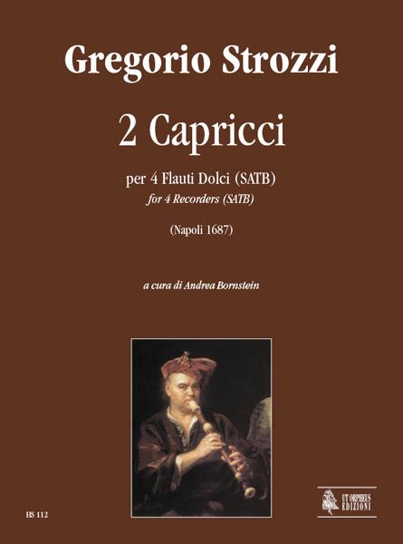 2 capricci: per 4 flauti dolci (satb), partitura+parti