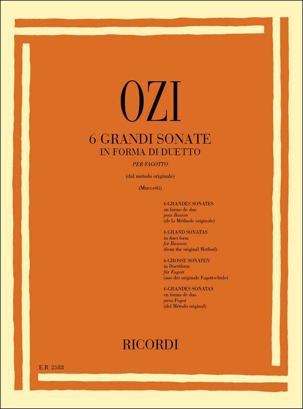 Ozi, Etienne - 6 große Sonaten in Duettform :