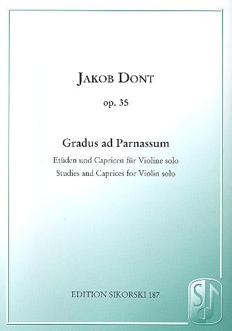 Gradus ad parnassum opus.35: Etüden und Capricen für Violine solo