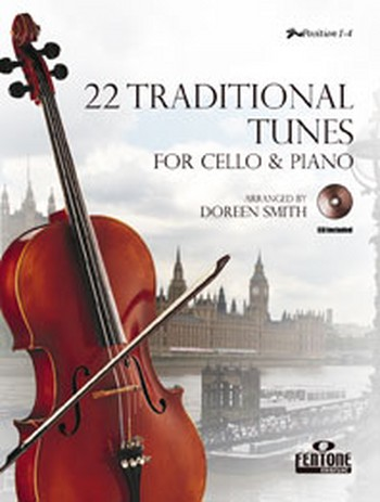 22 traditional Tunes (+CD): for violoncello and piano