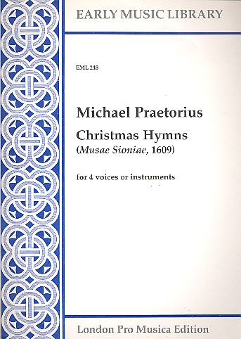Praetorius, Michael - Christmas Hymns : for 4 voices