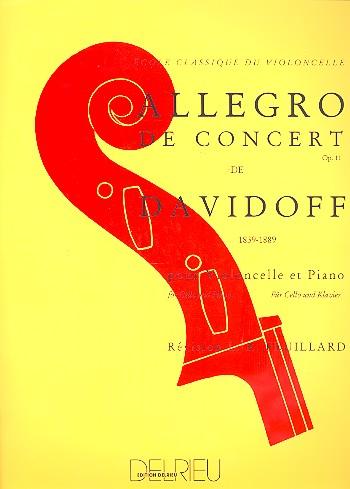 Allegro de concert opus.11: pour violoncelle et piano