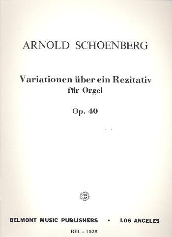 Variations on a Recitative opus.40: for organ